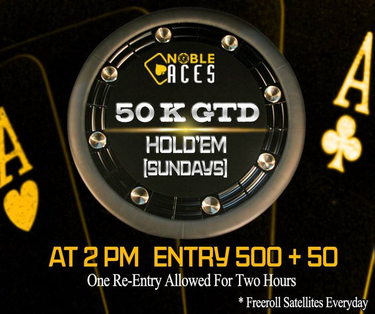 50K GTD Today at 2 PM. 15 players already registered through freeroll satellites. Expect a very soft field.  #OnlinePoker #WeeklyGuarantees