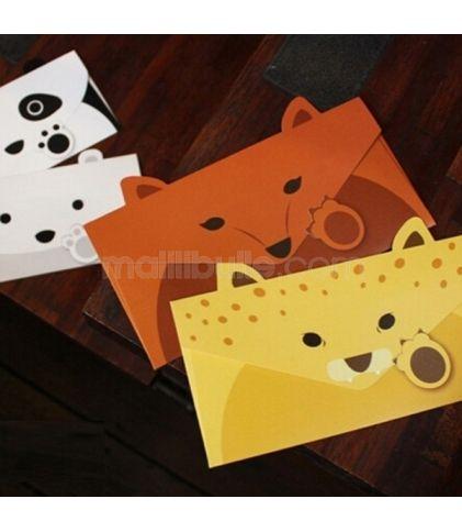 Lettre/Enveloppe Coréenne Panda ou Renard