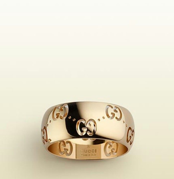 18 ky gold Gucci men's ring