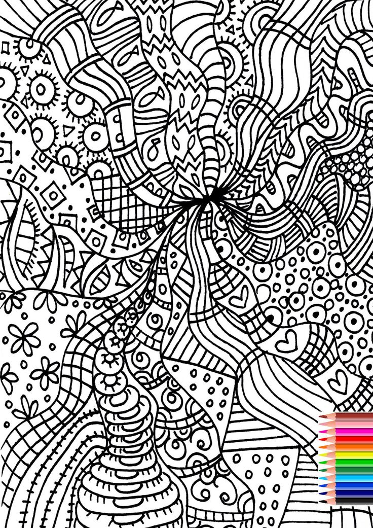 Adult Coloring Page, Printable Coloring Page,  Hand Drawn Coloring Page, Digital Coloring, Kids Coloring, Print and Color, INSTANT DOWNLOAD by AthinArtPrint on Etsy