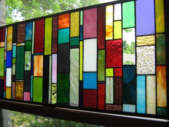 ah ha moment - create a mosaic with all my scrap stained glass