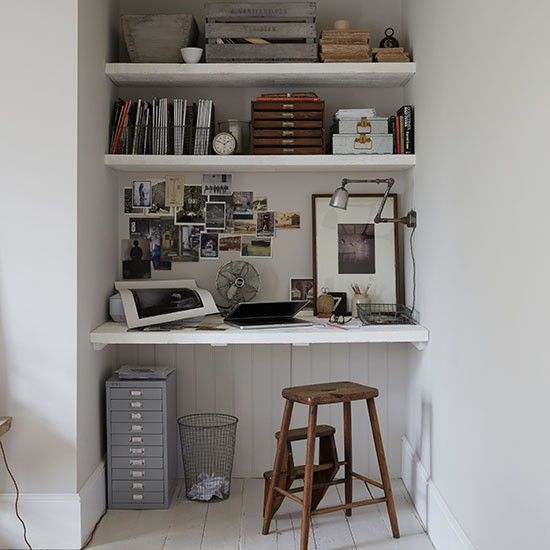 Best 25+ Home office closet ideas on Pinterest | Tiny home office ...