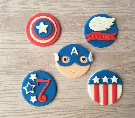 para cupcakes del Capitan America