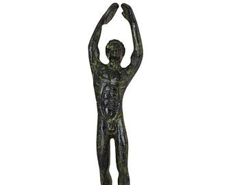 Ancient Olympic Games Discus Thrower Greek Mythology Hand-Made Bronze Art Sculpture Bronze Statue Olympic Athlete Collectible Art
