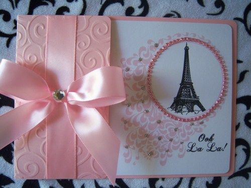 Sweet 16 Quinceañera Chic Paris Eiffel Tower Bling Invitations