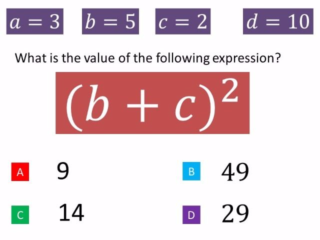 29 best my favourite maths diagnostic questions images on pinterest substitution into formulae fandeluxe Gallery