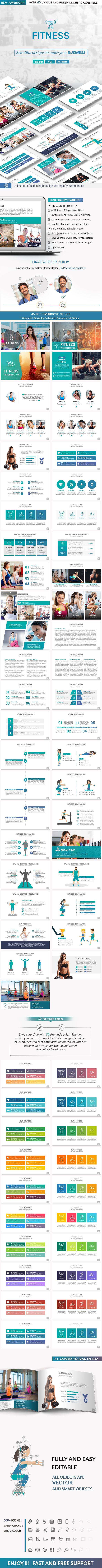 Fitness PowerPoint Presentation Template