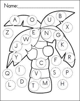 Chicka Chicka Boom Boom Recording Sheet  I could use this for letter recognition... ask the students, color the A pink, etc.