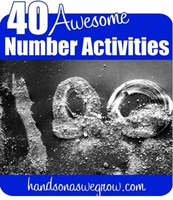 40 Number Activities for Preschoolers
