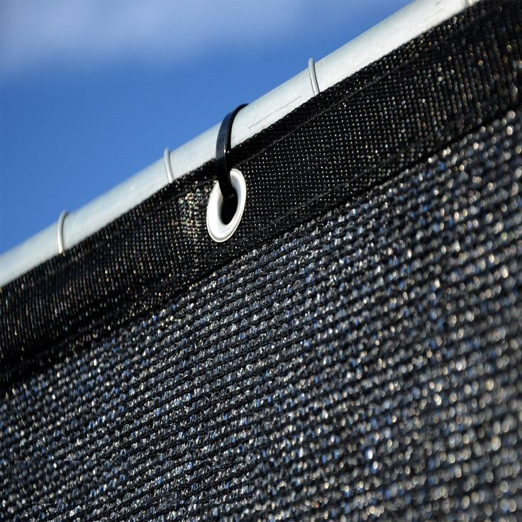6 39 x 50 39 black fence windscreen privacy screen black for Cloth privacy screen
