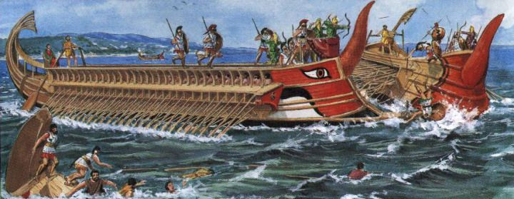 imagen de Trirreme griego (culturaclasica.com)