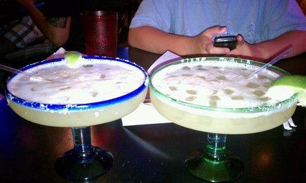 Texas size Margarita's from Rita's on the River, Riverwalk, San Antonio Tx.