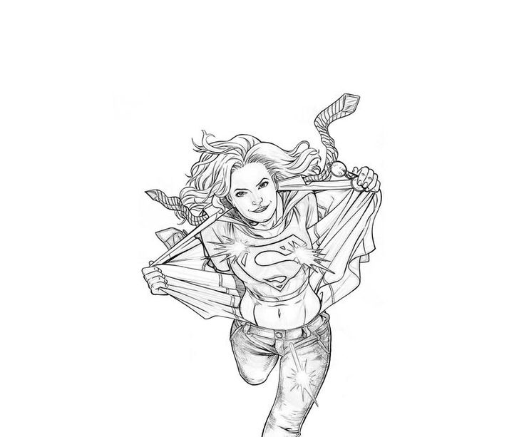Superwoman Coloring Pages Printable Supergirl Supergirl