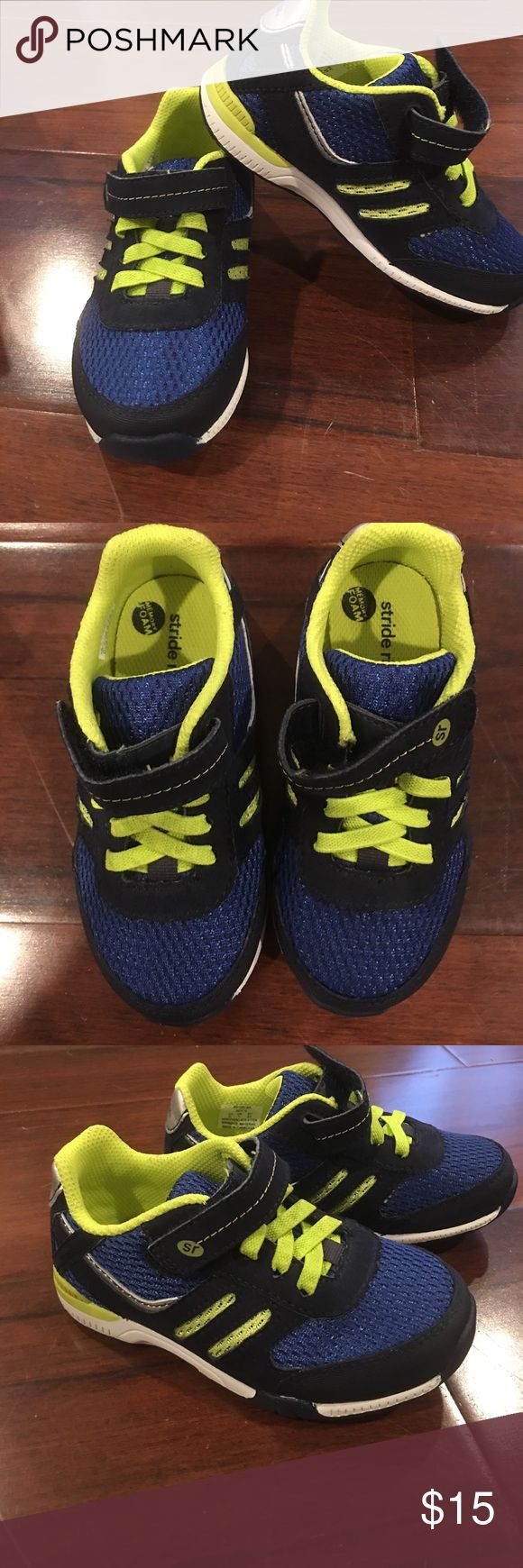 Stride Rite Navy and Neon Yellow Shoes Size 8 Stride Rite Navy and Neon Yellow Shoes Size 8. Brand New and Never Been Worn. Stride Rite Shoes Sneakers