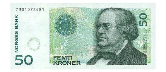 Femtilapp Norwegian Krone Money Collection Norwegian