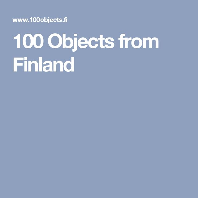 100 Objects from Finland