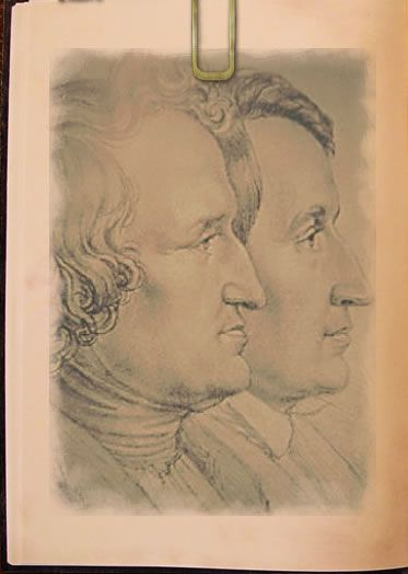 """The Brothers Grimm, Jacob (1785–1863) & Wilhelm Karl (1786–1859), became famous as the authors of fairy tales. As scholars, they also contributed to comparative linguistics. The Grimm brothers were also very important historians of medieval language & folklore. The German brothers spent years collecting & researching folk tales early in the 19th century. They published Children's & Household Tales in 1812, a collection which later became known as """"Grimm's Fairy Tales."""""""