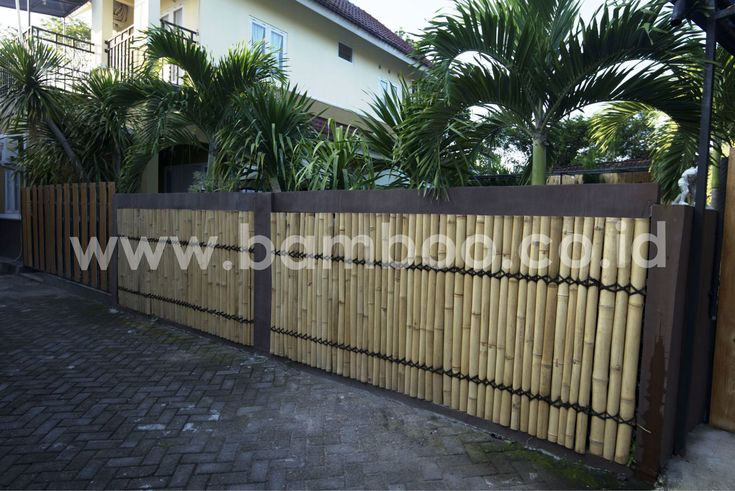 Bamboo Fencing Panels Installation – Front | BAMBOO