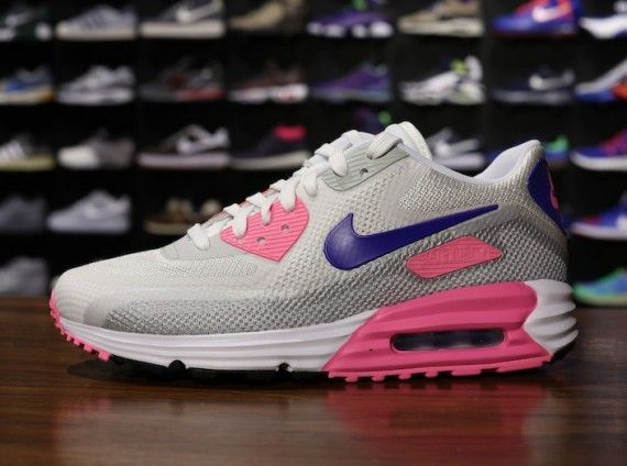 a50785db02be ... Grey Nike WMNS Air Max Lunar90 C3.0 – White – Concord – Pink Glow .