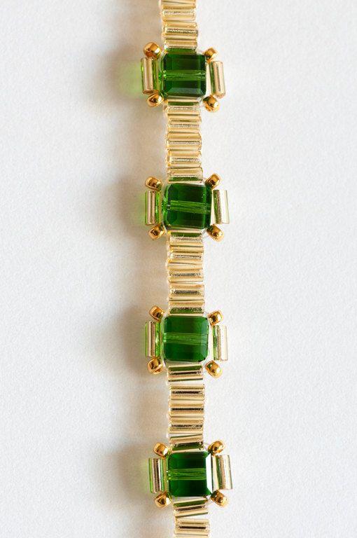 Hey, I found this really awesome Etsy listing at https://www.etsy.com/uk/listing/150468326/crystal-bracelet-bugle-bead-bracelet