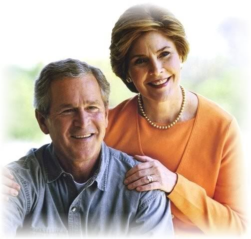 George and Laura Bush.  Laura Bush, a class act.