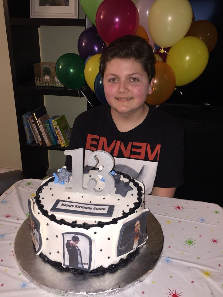 My nephew is OBSESSED with Eminem. Couldn't think of a better cake to have for his 13th birthday!