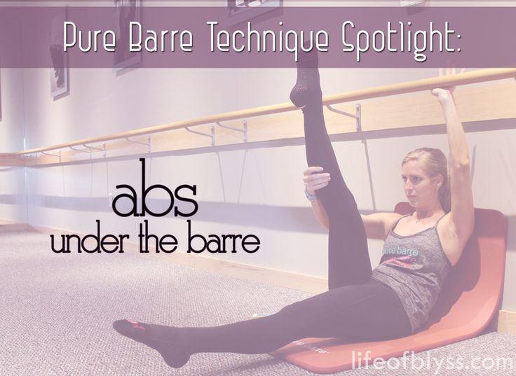 Pure Barre Technique Spotlight: Abs Under The Barre