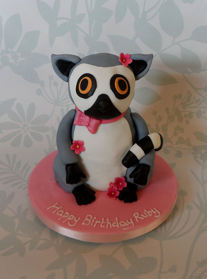 Lemur Cake Theme Cakes In 2019 Novelty Birthday Cakes