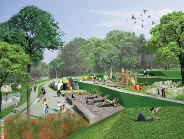 parque linear córrego verde