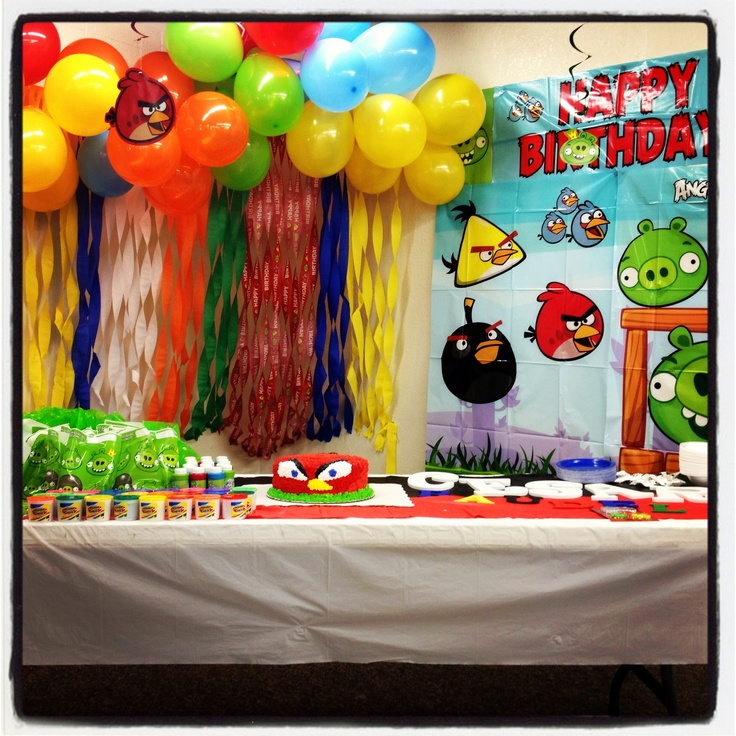 107 best kylers angry birds birthday images on pinterest for Angry birds decoration ideas