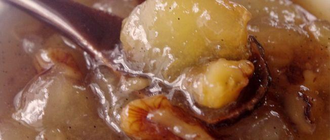 Confiture de Noël, poires,vanille, cannelle et noix | Bulles de Gourmandises