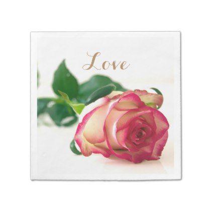 #wedding - #HAMbyWG - Paper Napkin - Single Rose