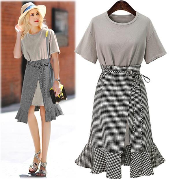 Plus Size 2 Pieces Dress