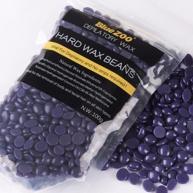100g Pearl Wax Lavender Flavor Depilatory Hot Film Hard Wax beans Pellet Waxing Bikini Hair Removal Wax for Body Hair Epilation