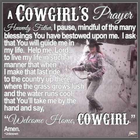 A Cowgirls prayer