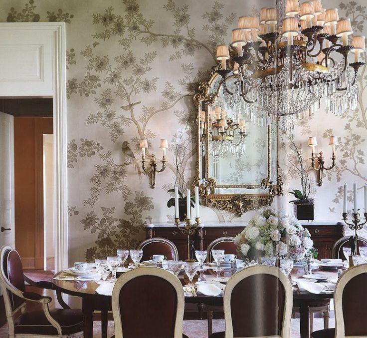 Modern House Terrific Clasic Decorating Furniture With Black Carpet Astonishing Dining Room Wallpaper Ideas Chinoiserie Jpgw