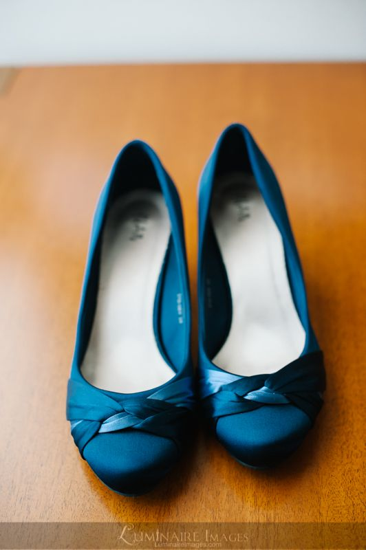 Wedding shoes, something blue