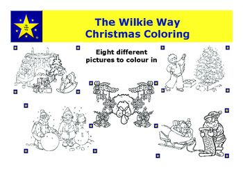 The Wilkie Way Christmas Coloring Picture is a set of eight different pictures to be colored in.Coloring in provides opportunities for young students to practice pencil control and for older students a pleasurable hobby activity away from an electronic screen.