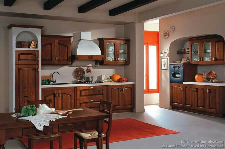 78 best tuscan kitchens images on pinterest - Italian kitchens cabinets ...
