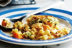 Pumpkin and pasta bake