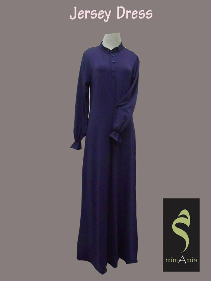 This simple abaya with button, suitable for you who are in breastfeeding period, made from Jersey material, special order from Canada