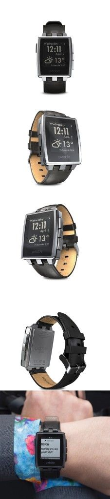 Pebble Steel Smartwatch Stainless Looks great and works wonderfully