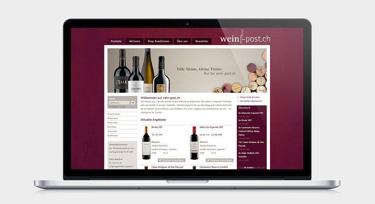 wein-post.ch - Webdesign und Onlineshop