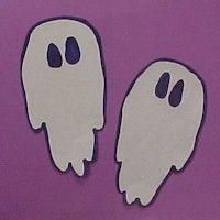 Hand Print Ghosts Craft