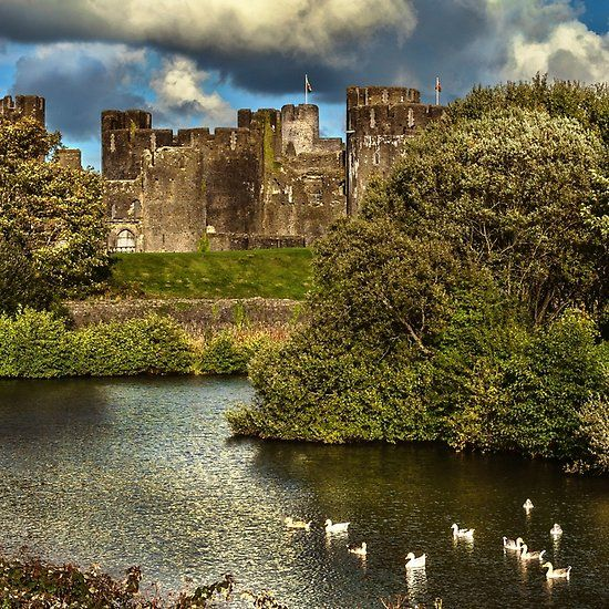 Caerphilly Castle Western Towers