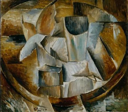 Georges Braque Glass on a Table 1909-10 oil on canvas 33 x 37cms