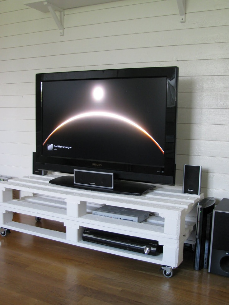 Rustik Charm: Tv-bänk av lastpallar