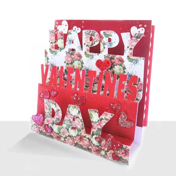 Luxury Pop Up Valentine Card Hearts & Roses, Unique Greeting Cards Online, Buy Luxury Handmade Cards, Unusual Cute Birthday Cards and Quality Christmas Cards by Paradis Terrestre