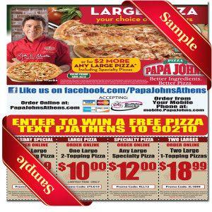 Papa johns coupons atlanta