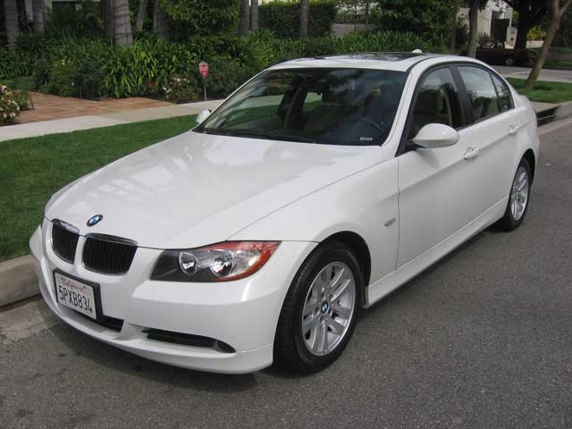 my dream car: white BMW 328i sedan (hybrid one)